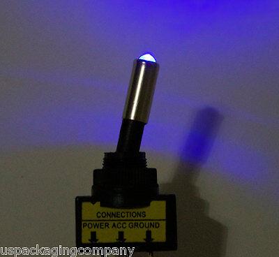 (4pcs) 12V Switch Toggle 20A Rocker BLUE LED Light SPST Car Boat Truck ON/OFF