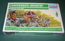 1/72 MIB ESCI Confederate Infantry plastic ACW Green box