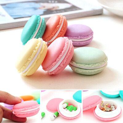 6 PCS Mini Macarons Organizer Storage Box Earphone SD Card Case Carrying Pouch