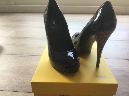 Schuhe Decolette Damen Gr Schwarz Pumps Plateau Fendi Vernice 39 Heels High YpxdqW0wH