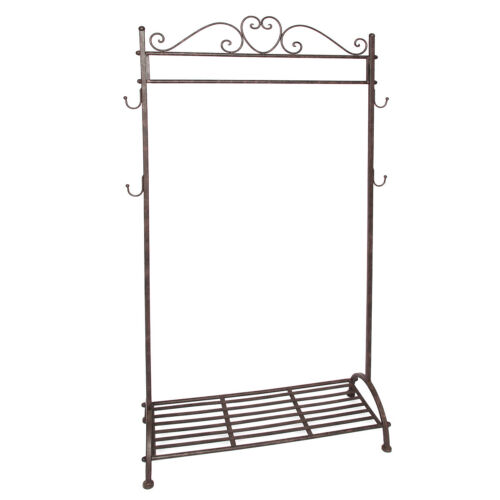 Clothes Rail Coat Stand Clothes Stand Country House Antique Brown 162//80cm