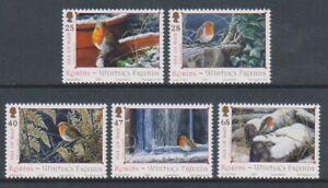 Isle-of-Man-2004-Christmas-Robins-set-MNH-SG-1185-9