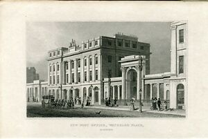 Escocia-New-post-Office-Waterloo-Place-Engraving-By-Alexander-Mc-clatchie-1829