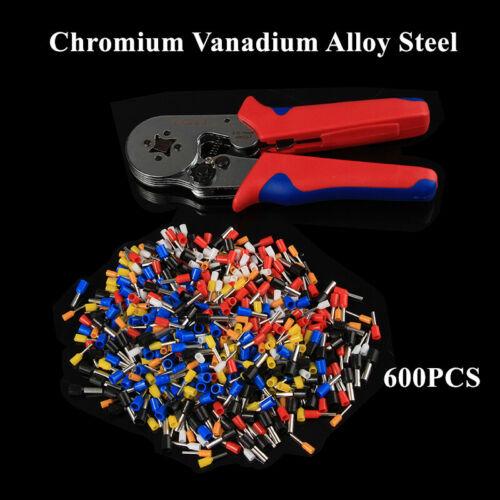 600PC Multi-Function Tubular Crimping Pliers Cold-Pressed Tube Terminal Tool Kit