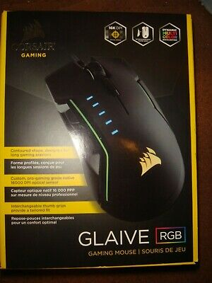 CORSAIR Glaive RGB Ergonomic Gaming Mouse 16,000 DPI Brand New /& Sealed!!!