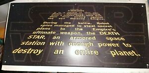 Star Wars Episode Iv A New Hope Opening Scene Crawl 17 X8 Tin Sign Ebay