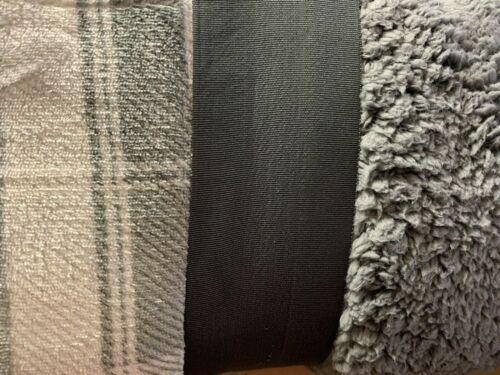 Plaid Velvet Plush Soft Reversible Sherpa Blanket Choose Color + Size