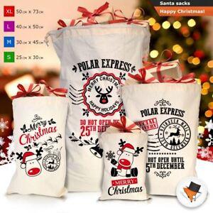 GRANDE-Babbo-Natale-Sacco-Babbo-Natale-Borsa-per-i-REGALI-DONI-NATALE-Calze-Di-Cotone