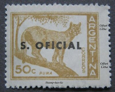 (1) S.Official, Wild Puma, 'Offset Litho' stamp from Argentina, Circa  1959/60.   eBay