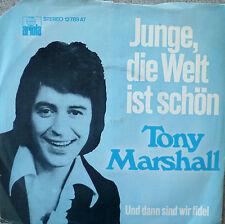 """7"""" 1972 NL-PRESS RARE MINT- ! TONY MARSHALL : Junge die Welt ist schön"""
