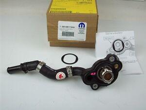 chrysler 300 dodge charger challenger 3 5 engine thermostat housing rh ebay com Dodge V6 Engines Dodge Police Car Engine