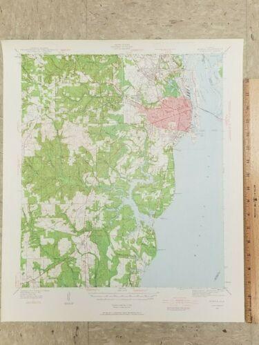 VINTAGE ANTIQUE 1940 MOBILE Alabama AL USGS Topographic Quadrangle Topo Quad Map