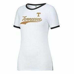 J America NCAA Indiana Hoosiers Womens Large Mascot Essential Tee White Medium