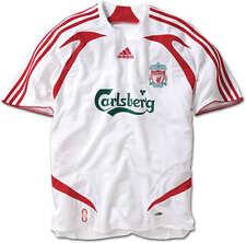 "EX! Liverpool FC 2007/2008 Away Shirt White (L 42"" 44"") Adult Mens Adidas 07/09"