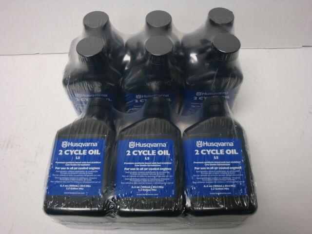 6100001360 (2) HUSQVARNA 6.4 OZ ciclo de fórmula 2 lowsmoke engineoil 6 paquetes