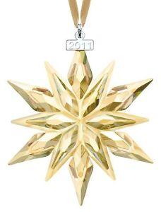 SWAROVSKI #1092040 SCS 2011 CHRISTMAS ORNAMENT BNIB GOLDEN ...