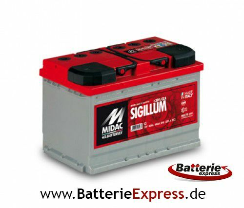 MIDAC SIGILLUM S2 Plus 12V 65Ah Starterbatterie NEU