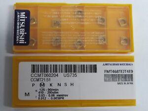 10-pcs-MITSUBISHI-Carbide-inserts-CCMT-21-51-CCMT-060204-Grade-US735