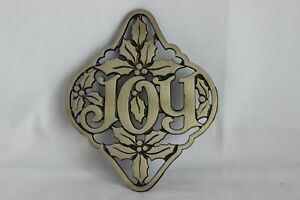 Christmas Joy Cast.Details About Avon Cast Iron Brass Finish Christmas Joy Trivet