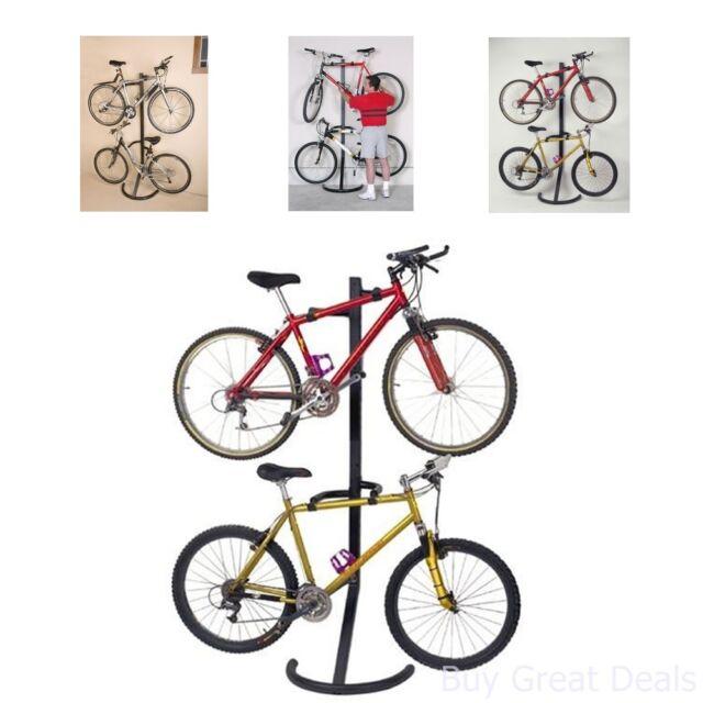 Bike Storage Stand Wall Mount Indoor Vertical Hanger Garage Rack Bicycle Parking