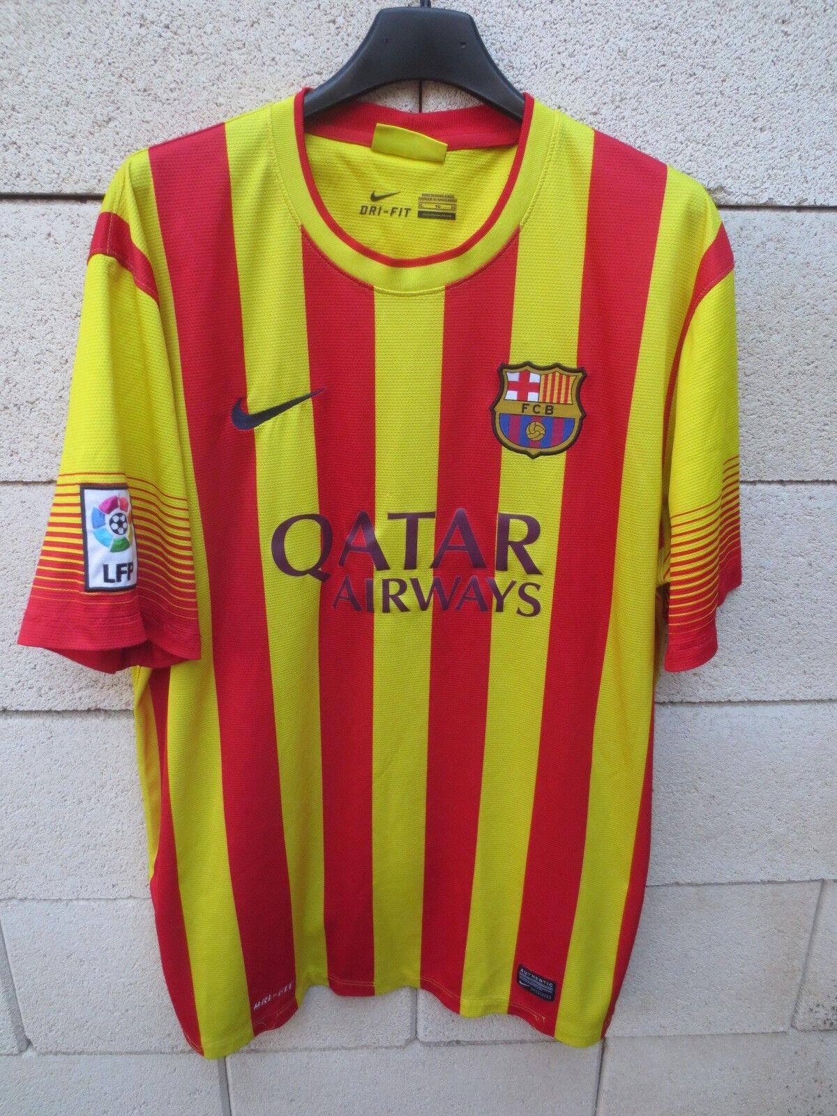 Maillot BARCELONE BARCELONA 2014 camiseta shirt NIKE Catalunya LFP Catalan XL