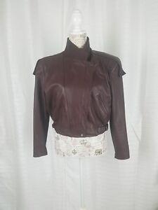 Taille Epaules Leather Rembourrées Veste Vtg Doublées Marron 11 12 Womens 80s Fidelity UvRzcqzOI