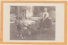 Real Photo Postcard RPPC - Boy in Goat Cart