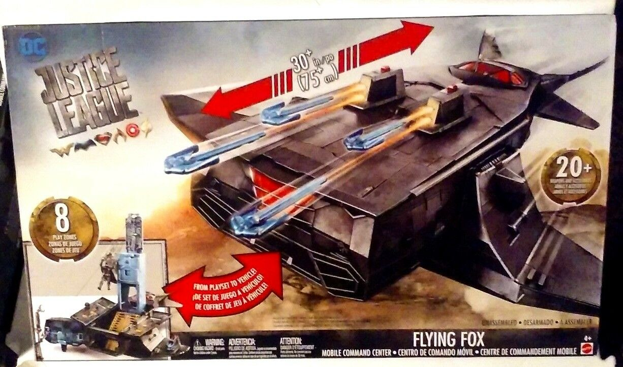 Dc comics gerechtigkeitsliga flying fox mobile commander center playset neue misb