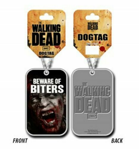Beware of Biters The Walking Dead Pendentif Dog Tag