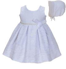 Cinda Baby Mädchen Weiße Spitze Taufkleid Partykleid mit Haube 12-18 Monat