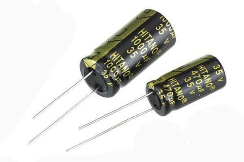 3300uF 35 V Condensatore Elettrolitico Radiale Bassa Impedenza PK10
