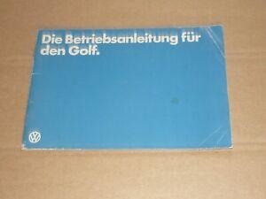 VW Golf I 1979 Betriebsanleitung Bedienungsanleitung Handbuch
