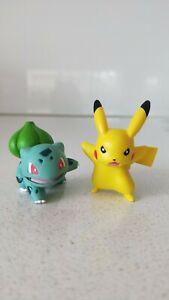 Original-Pokemon-Pikachu-amp-Bulbasaur-Figures-x2-New-Without-Tag