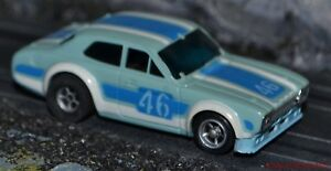 AFX Aurora magnatraction Ford MK1 Escort In Blue Just Stunning HO Slot car