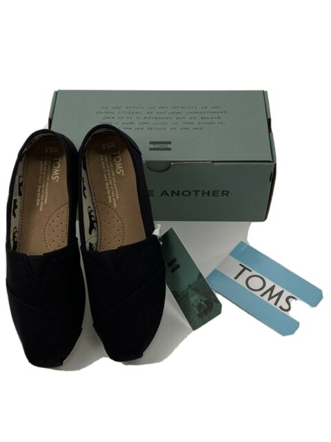 TOMS Womens Classic Canvas Slip On Canvas Black $49.00 US 6.5 UK 4.5 EUR 37 NIB