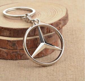 Zinc-Alloy-Mercedes-Benz-Car-Logo-Key-Ring-Keyring-Key-Chain