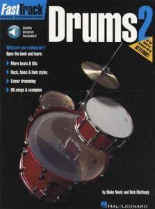 Fast Track Drums 2 Sheet Music Book With Audio Apprendre à Jouer Méthode-afficher Le Titre D'origine