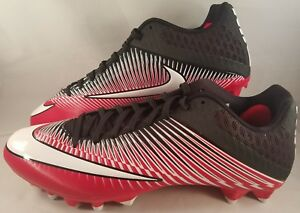 Nike Vapor Speed 2 TD Low Football Cleats Men s Size 14 Red Black ... 292cebdcd4f