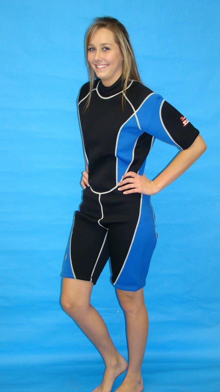 Wetsuit 3mm Large Womens  Shorty Scuba snorkel Gear MBL 9814  healthy
