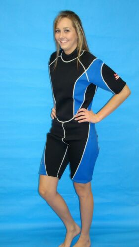 Wetsuit 3mm Large Womens Shorty Scuba snorkel Gear MBL 9814
