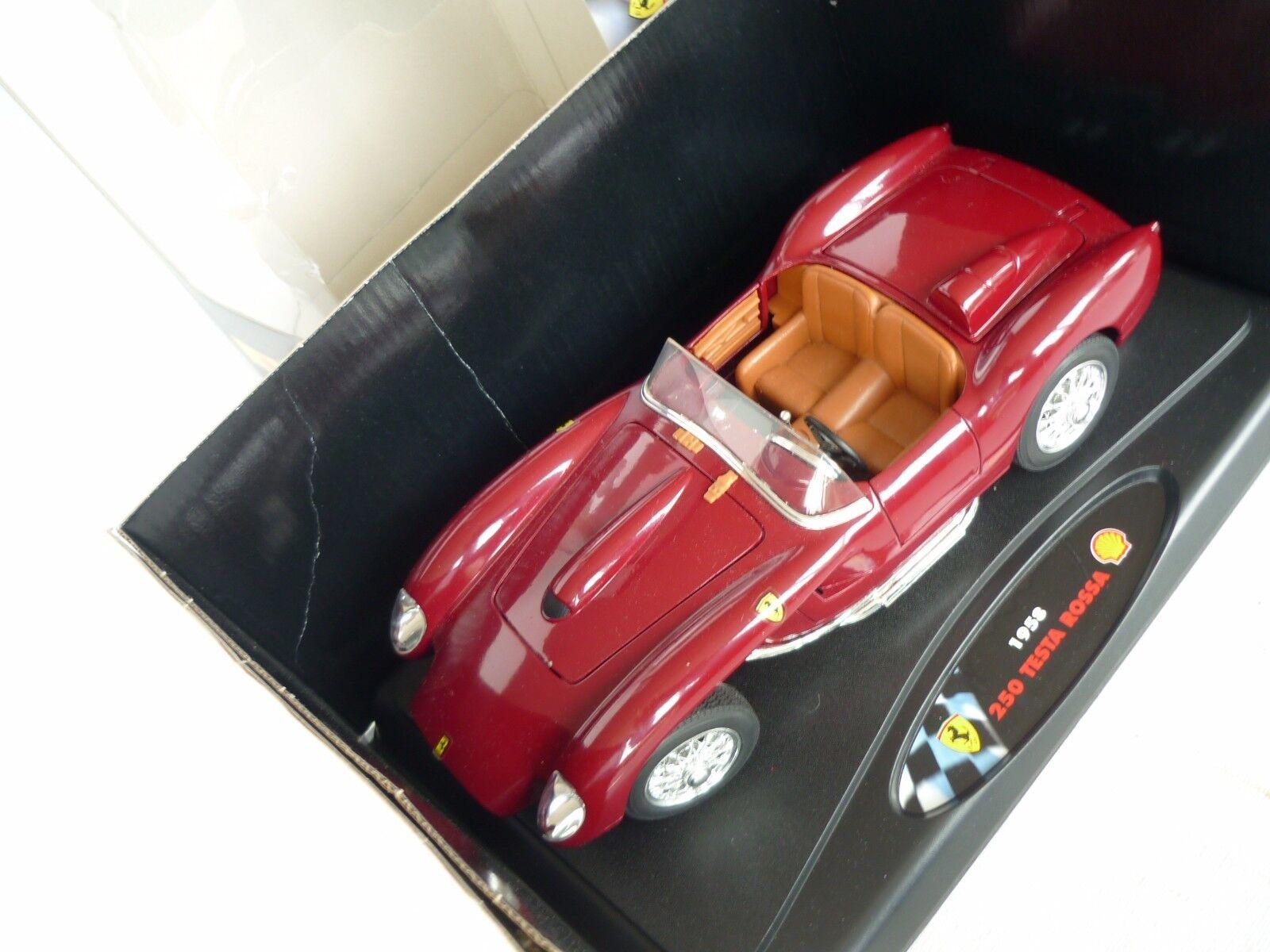 Shell Classico Ferrari Testarossa 1958 in 1 18 mit passendem Shell-Tankfass dazu
