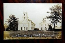 CONGREGATIONAL CHURCH & ACADEMY WEST GRANVILLE MA MASS Photo Postcard c.1910