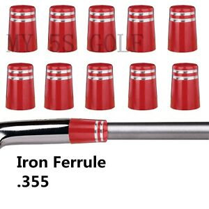 Golf-355-Iron-Ferrules-With-Silver-Trim-Ring-for-Taper-Tip-Iron-Wedge
