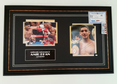 NEW AMIR KHAN SIGNED BOXING PHOTO PICTURE Display