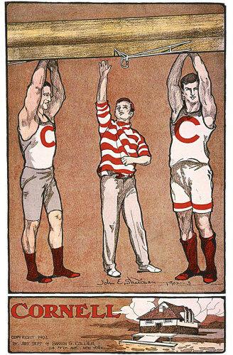 18x24 Vintage Yale Harvard Princeton Cornell Rowing Crews Poster 1908