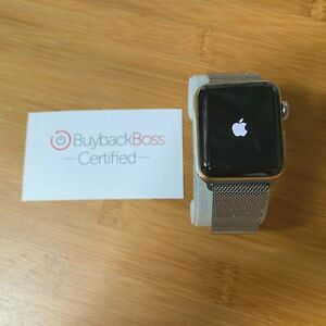 Apple Watch Series 3 38mm Stainless Steel With Milanese Loop Cellular Used Ebay