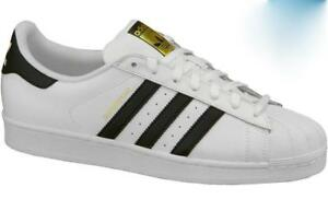 Image is loading Adidas-Superstar-C77124-Originals-White-Black-Gold-Classic- 39c5191c0e8