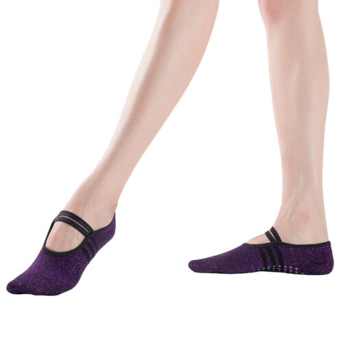 Anti-friction Yoga /& Pilates Socks Non Slip Sports Socks with Silicone Grips 6A