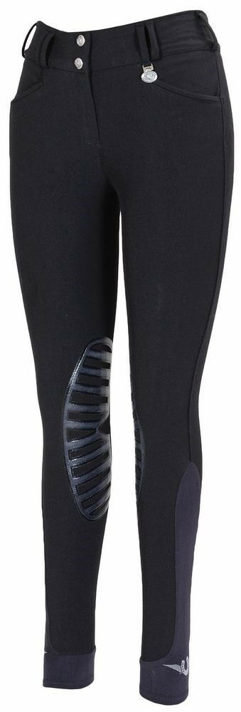 Tuffrider Element Knee Patch Riding Breeches Low-Rise Wide Waistband