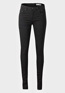 Ladies Skinny Jeans 5 Pocket Design Denim Black High Rise Stretch ... d9b0490113d68